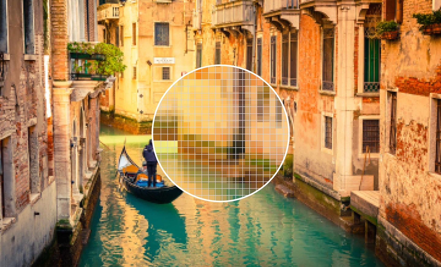 Full HD image of a Venetian canal