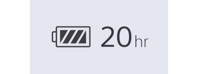 WI=C400 20-hr battery icon