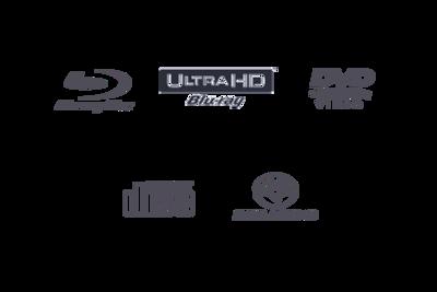 UBP-X700 compatible disc formats