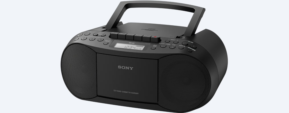 Images of CD/Cassette Boom Box with Radio