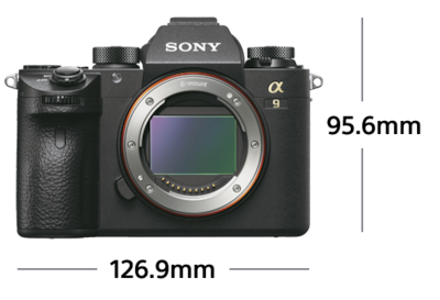 Picture of α9 mirrorless camera with CMOS sensor
