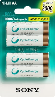 Images of Multi-Use Premium Rechargeable Batteries (AA)