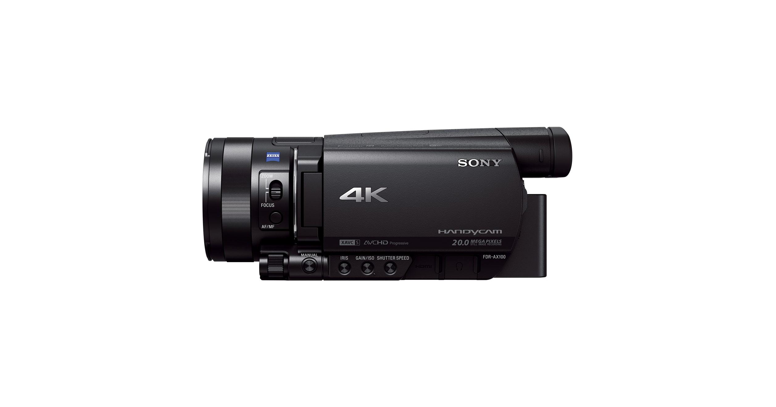 4k Camcorder Portable Video Camera Fdr Ax100e Sony In