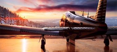 Image of aeroplane showing HDR detail
