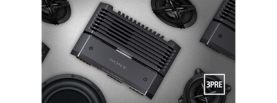 Image of car amplifier and speakers