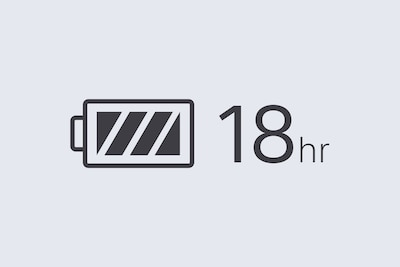 18-hr battery logo