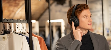 WH-1000XM4 headphones with fingertip control