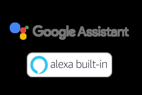 Google Assistant and Amazon Alexa logos