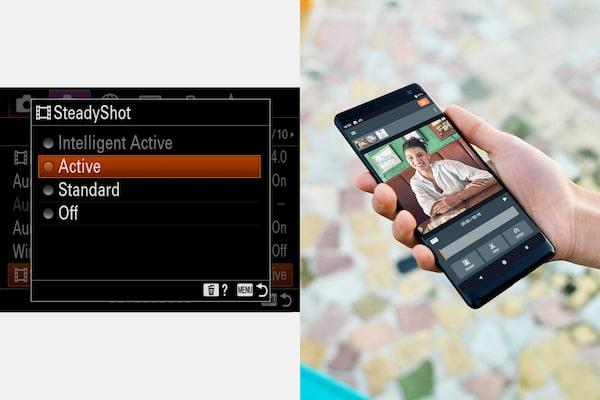 Enhanced image stabilisation during 4K movie recording