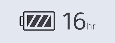 16hr battery life icon