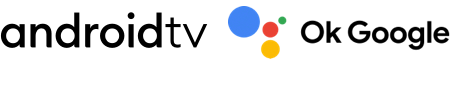 Android TV and OK Google logos