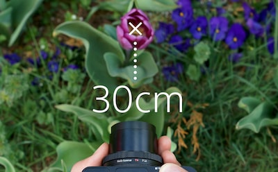 "Sony DCS-RX100 III Cyber-shot™ digital camera provides a 30 cm (12"") working distance"
