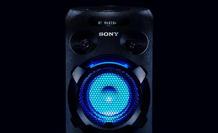 MHC-V02 with LED speaker lighting