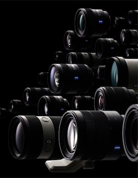 Link to Sony lenses website (image shows Sony lenses)