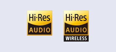 High resolution audio and high resolution audio wireless logos