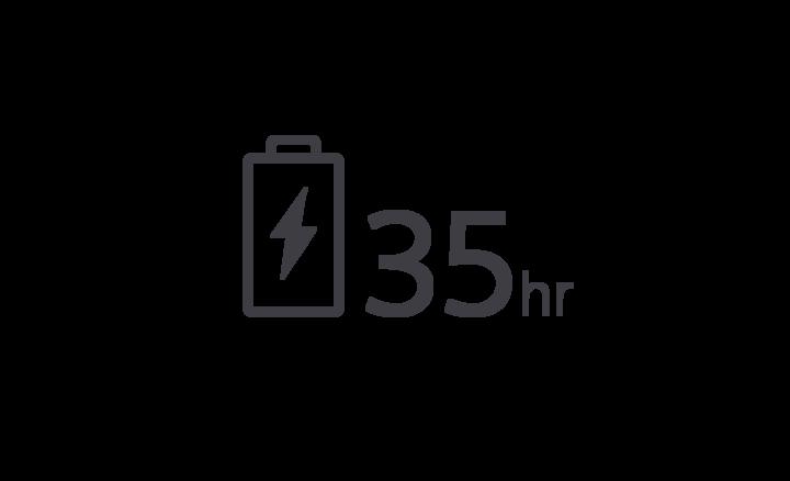 35 hr battery
