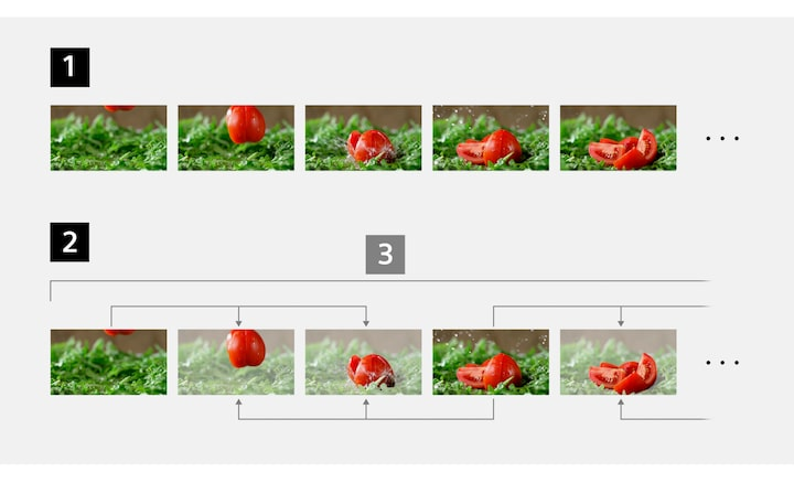 Images of the file structures for the All-intra, Long GOP and Group of Picture