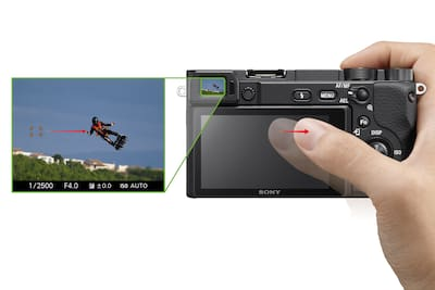 Touch Pad provides smooth focus-area selection