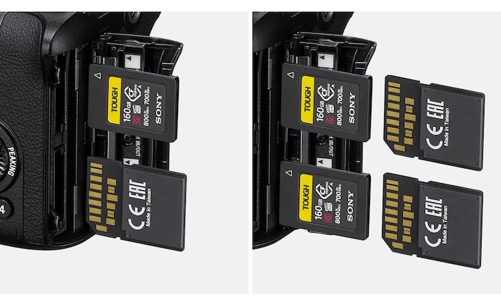 Image of dual media slots