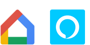 Google Home and Amazon Alexa logos
