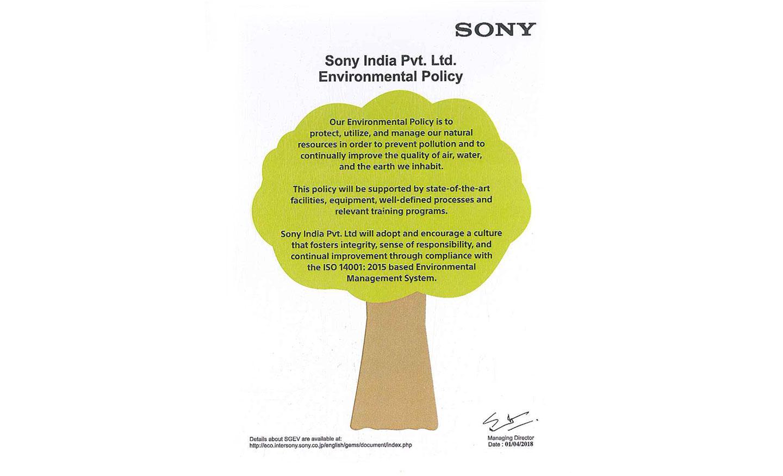 sony social responsibility
