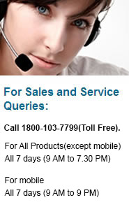 For Sales and Service Queries